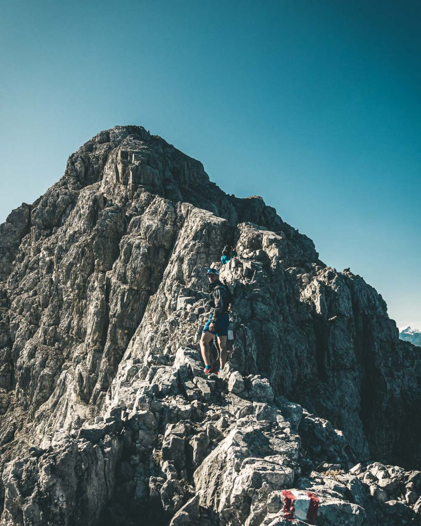 Unterhalb der Südspitze