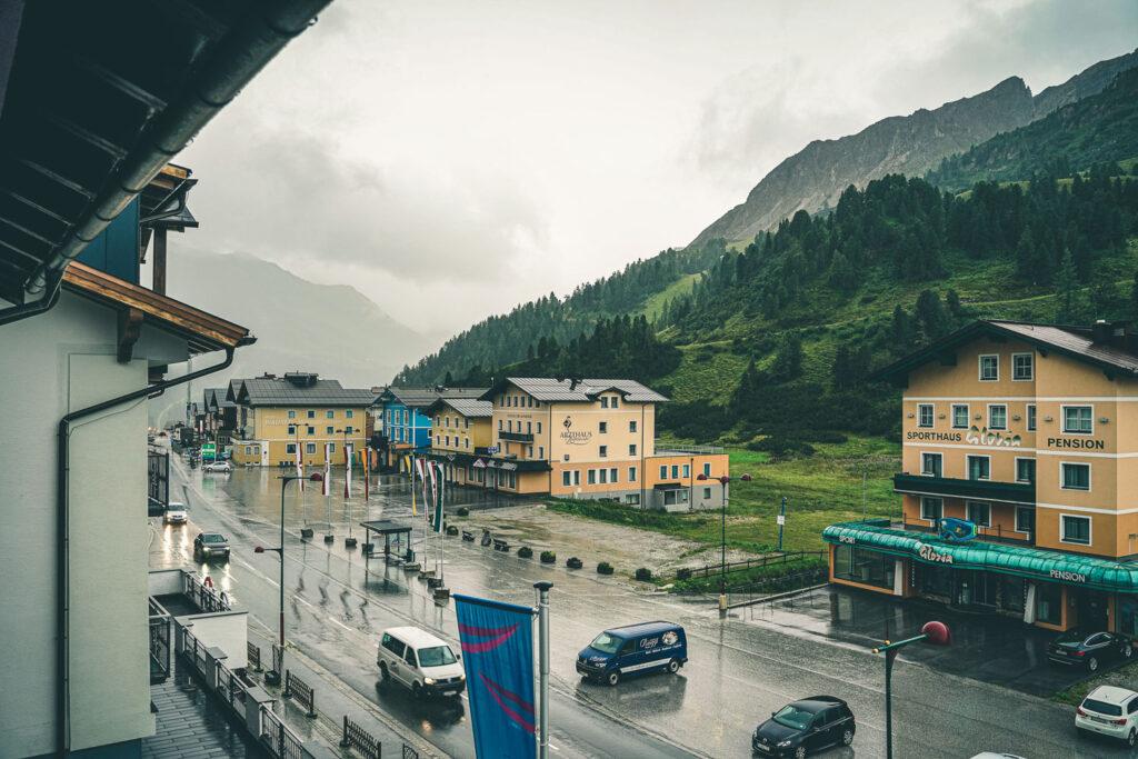 Regenwetter in Obertauern
